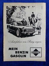 Gasolin Benzin Triumph Roadster - Werbeanzeige Reklame Advertisement 1964 _ (692