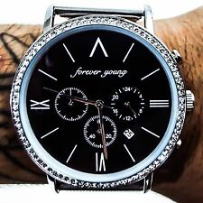 Men's Forever Young Metal Fitted Band