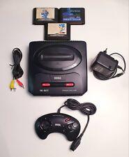 Sega Mega Drive 2 console with 3 games PAL MD2 MD