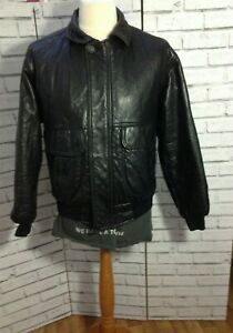 Italian black mens real butter soft LEATHER quilted  collared jacket 50