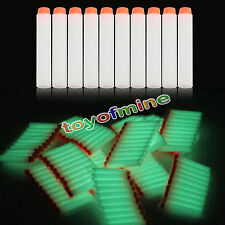 10pcs Glow EVA Refill Bullet Darts for Nerf N-Strike Elite Series Toy Gun 7.2cm