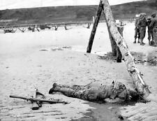 Photo. WW2. Normandy. Omaha Beach After D-day - Dead American GI