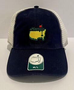 Masters Tournament Fitted Stretch Navy Mesh Men's Hat Augusta Golf 2021 M/L 🧢
