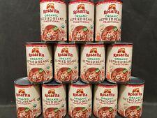 12 Rosarita Traditional ORGANIC Refried Beans 16oz Can Mexican Frijoles Refritos