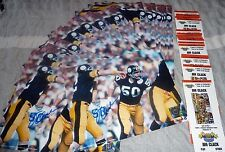 Steelers JIM CLACK (D) autograph signed Super Bowl X 8x10 w Bradshaw LOT of 25