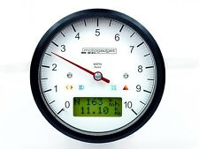 MOTOGADGET Motoscope Classic Tach Speedo White Face Black Bezel 8k 10k 14k Gauge