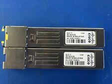 Genuine Cisco GLC-T 30-1410-03 GB Ethernet SFP (Set of 2)