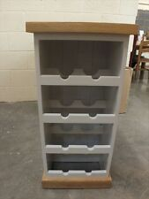 PAINTED WINE RACK SOLID OAK TOP & PLINTH HAND MADE BESPOKE COLOUR SIZES