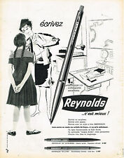 PUBLICITE ADVERTISING  1962   REYNOLDS   stylo bille 2