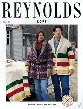 Reynolds Yarn Knitting Patterns Set of 8 - Reindeer Pullover, Fair Isle Jacket++