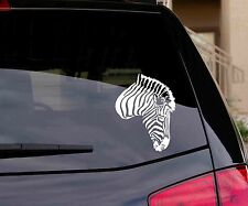 ZEBRA HEAD Animal Wall / Car Decal Sticker, Highest Quality
