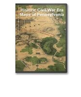 61 Rare Historic Civil War Maps of Pennsylvania PA -  CD - B13