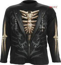 Spiral Direct UNZIPPED Man Long Sleeve T-shirt/Skeleton/Skull/Rock/Metal/Top/Tee