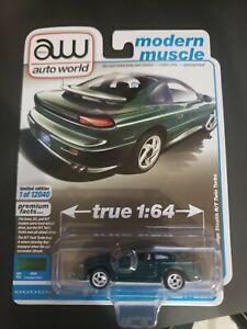Auto World 2021 True 1:64 Modern Muscle - 1992 Dodge Stealth RT Twin Turbo Green