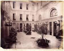 Naples Grand Hotel et Via Porto Lot 2 Belles photo albuminé vers 1870 G. Sommer