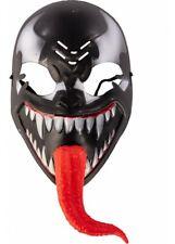 Venom Máscara Superhéroe Terror Halloween Disfraz Cosplay Traje Plástico