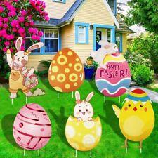 Songjum 6 Pieces Easter Yard Signs Decorations Outdoor,Waterproof Easter.