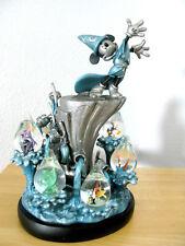 Rare 7 SnowGlobes Dewdrops Disney Mickey Mouse FANTASIA 2000 Blue Figurines