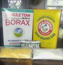 2.5 GAL FELS NAPTHA WASHING SODA BORAX HOMEMADE LAUNDRY SOAP / DETERGENT KIT