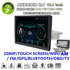 "10.1"" Single Din Android 8.1 Quad-Core 1+16GB Car Stereo Radio GPS WiFi 3G 4G BT"