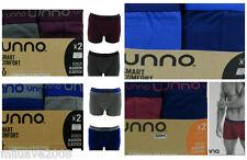 Pack 2 Boxer UNNO SMART COMFORT algodón elástico cómodo adaptación perfecta,