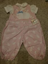 Vintage BABY TOGS GIRL ROMPER BUNNY 3-6 mos. NWT