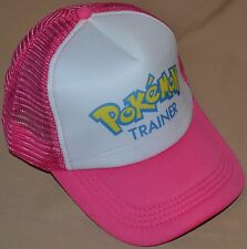 Pink Pokemon Trainer Go Hat Ball Cap Outfit Cosplay Teens Kids To Adults Girls