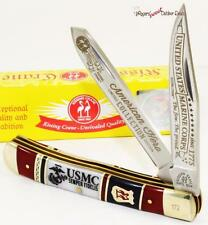 Kissing Crane Limited USMC Marines Semper Fidelis 2 Blade Trapper Pocket Knife