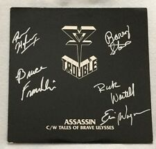 "Rare Autographed Trouble ""Assassin"" EP Metal Blade Records"