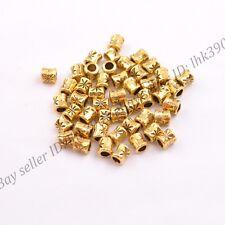 50/100Pcs Antique Tibetan Silver Tube Charm Spacer Beads 5MM DB3034
