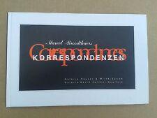 """ Marcel BROODTHAERS : Correspondances / Korrespondenze "" Cat. Zürich / NYC 1995"