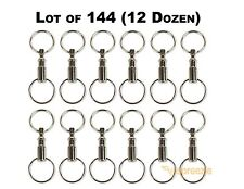 Lot of 144 Detachable Keychains Pull Apart Quick Release Removable Key Rings USA