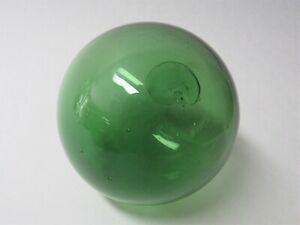 Vintage Blown Glass Fishing Net Float Ball - GREEN