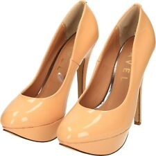 nude pat Court Shoes Patent Platform stiletto High Heel size 6/39 RAVEL ZRL908 A