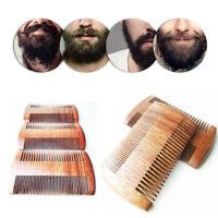 Double Sided Sandalwood Beard Comb Fine Teeth Wood Hair Care Antistatic Combs.