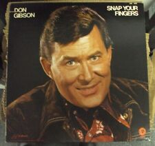 DON GIBSON Snap Your Fingers LP OOP mid-70's country