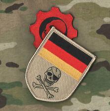 JSOC BUNDESWEHR KSK GERMAN ARMY KUNDUZ νeΙ©®⚙ SSI Deutsch Flag Skull + WAR Gears