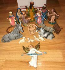 Vintage Nativity Figurine Mixed Lot Of 18 Italy Depose Fontanini ?