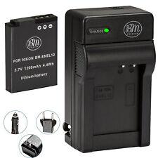 BM EN-EL12 Battery & Charger for Nikon Coolpix A1000, B600, P310, P330, P340