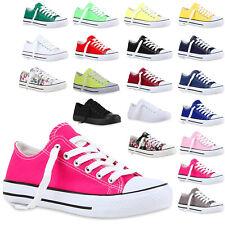 Freizeit Damen Sneakers Low Viele Farben & Gren Canvas Schuhe 811074 New Look