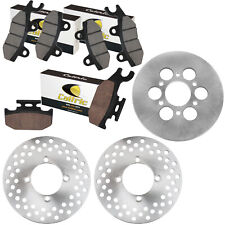 Front And Rear Brake Disc Rotor W/Pad for Yamaha Rhino 660 YXR660 4X4 2004-2007