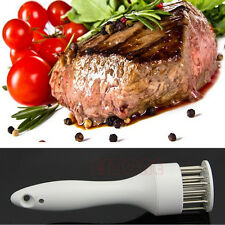 Stainless Steel Needle Kitchen Professional Cooking Meat Tenderizer Tool New