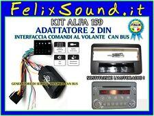 Kit ALFA 159  Adat.  1DIN Alfa 159  con AUTORADIO OEM  + Adat.Comandi al Volante