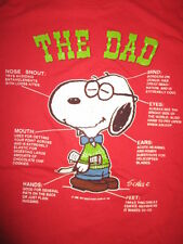 """Vintage Artex Peanuts SNOOPY  """"THE DAD"""" (XL) T-Shirt MIND NOSE MOUTH EARS HANDS"""