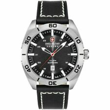 Swiss Military Hanowa Champ 6-4282.04.007 Men's Black Leather Strap Watch