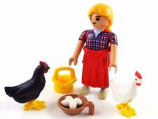 COUNTRY MAID with CHICKENS / FARM HOUSE LADY FIGURE Playmobil