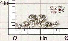 Silver Plated Brass 1463so2 2 Crinkle Bow Stampings Ox