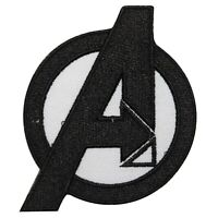Avenger Black Superhero Logo Patch Iron On Sew On Badge Embroidered Patch