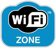 "WiFi Zone Internet Car Bumper Window Tool Box Sticker Decal 5""X4"""