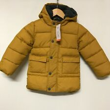 New Marks And Spencer's Puffer Coat Mustard Yellow Kids Size 3-4yr Winter 341089